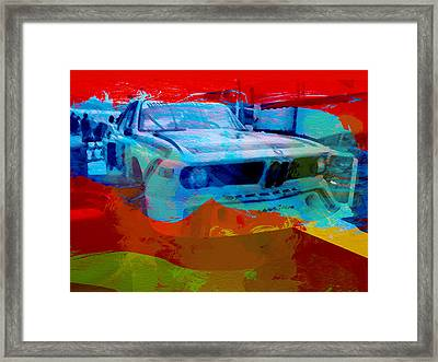 Bmw Laguna Seca Framed Print by Naxart Studio