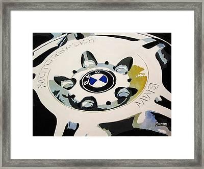 Bmw Ltw Wheel Framed Print by Indaguis Montoto