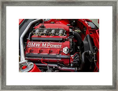 Bmw M Power Engine Framed Print by Roger Mullenhour