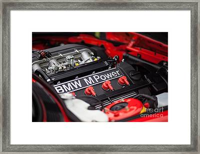 Bmw M Power Framed Print by Mike Reid