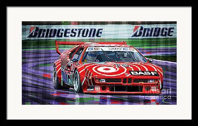 M1 Racing Framed Prints