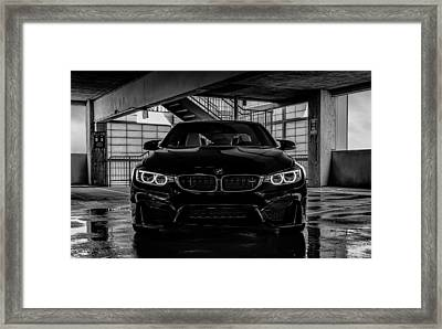 Framed Print featuring the digital art Bmw M4 by Douglas Pittman