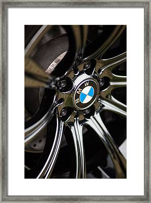 Bmw M5 Black Chrome Wheels Framed Print by Mike Reid
