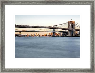 Bmw New York City Bridges Framed Print