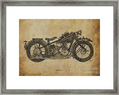 Bmw R47 1927 Framed Print by Pablo Franchi