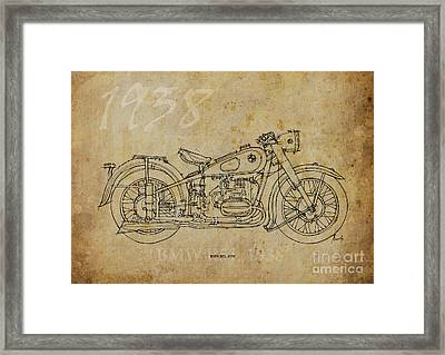Bmw R51 1938 Framed Print by Pablo Franchi