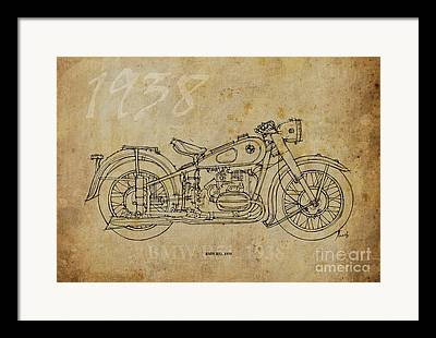 Industrial Background Drawings Framed Prints