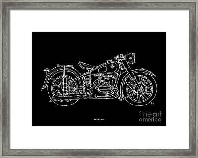 Bmw R51 1958 Framed Print by Pablo Franchi
