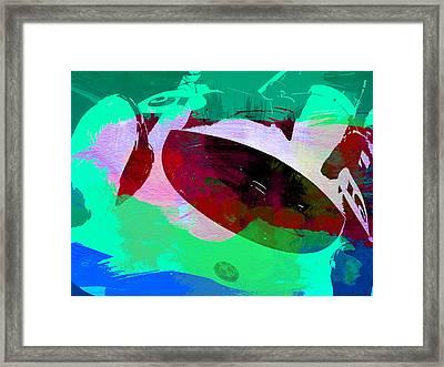 Bmw Racing Detail Framed Print by Naxart Studio