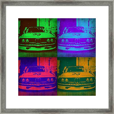 Bmw Racing Pop Art 1 Framed Print