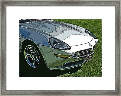 Bmw Z8 Nose Study Framed Print by Samuel Sheats
