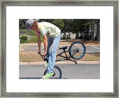 Bmx Rider Framed Print