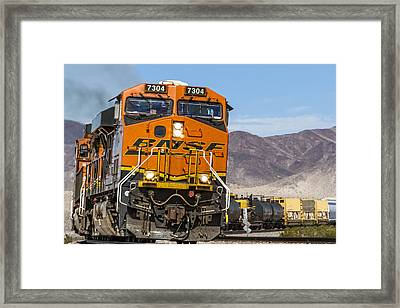 Bnsf In Ludlow, California Framed Print