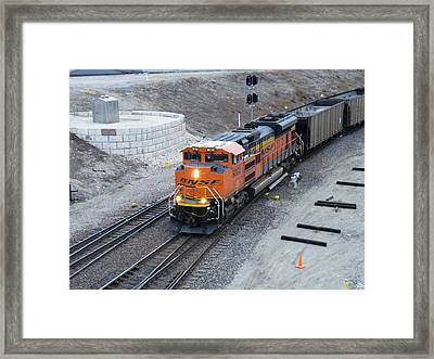 Bnsf Kc Rail Yards Framed Print