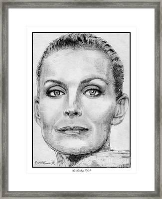 Bo Derek In 1994 Framed Print by J McCombie