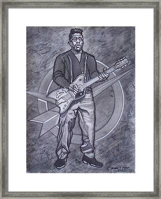 Bo Diddley - Have Guitar Will Travel Framed Print by Sean Connolly