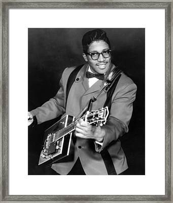 Bo Diddley Framed Print by Silver Screen