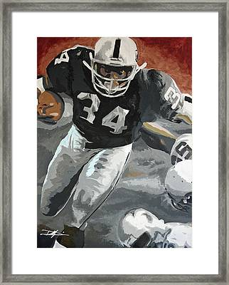 Bo Jackson Framed Print by Don Medina