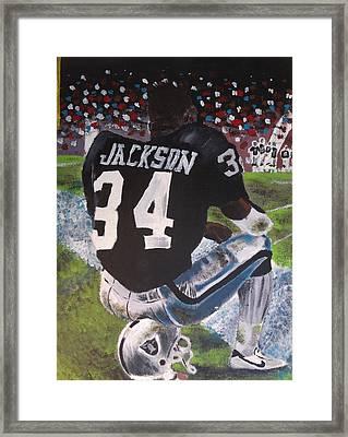 Bo Jackson II Framed Print by Jeremy Moore