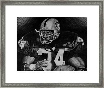 Bo Jackson Framed Print by Jeremy Moore