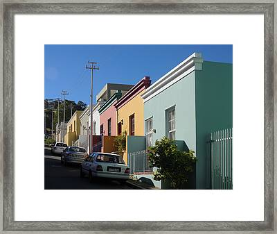 Bo Kaap Houses Framed Print