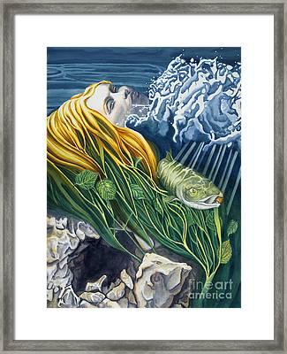 Boann Transformation Of A Goddess Framed Print by Antony Galbraith