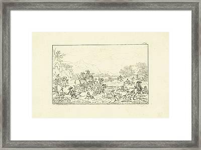 Boar Hunt, Joannes Bemme Framed Print