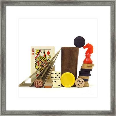 Board Game Framed Print by Bernard Jaubert