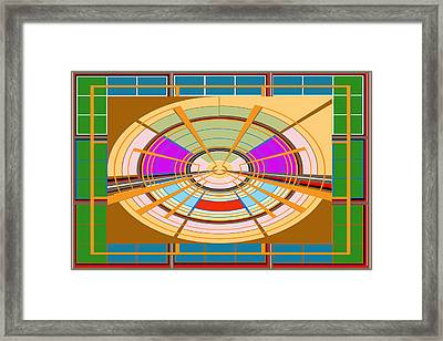 Board Games Play Ground Artistic Graphic Colorful Digitalart Unique Signature Art101 Basics Round Ci Framed Print