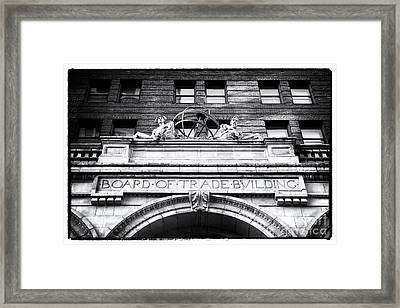 Board Of Trade Building Framed Print by John Rizzuto