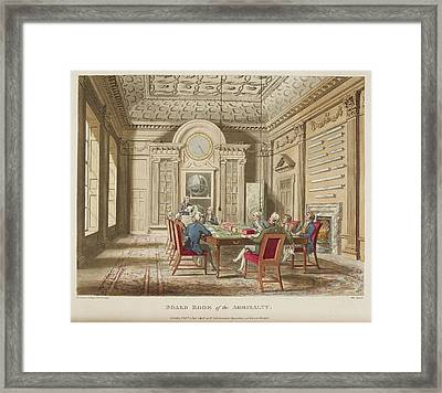Board Room Of The Admiralty Framed Print