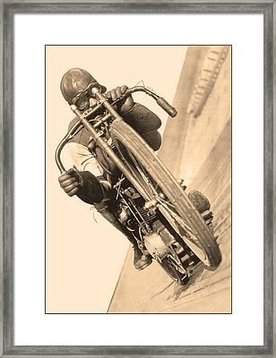 Board Track Racer Framed Print