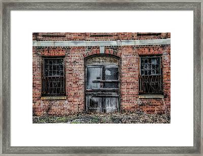 Boarded Up Door - Norristown State Hospital Framed Print