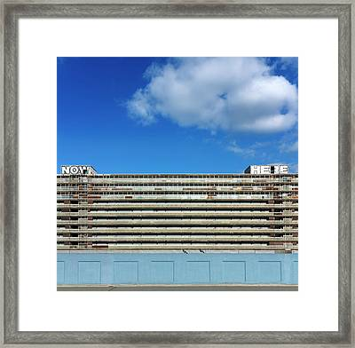 Boarded Up High-rise Housing Framed Print by Daniel Sambraus