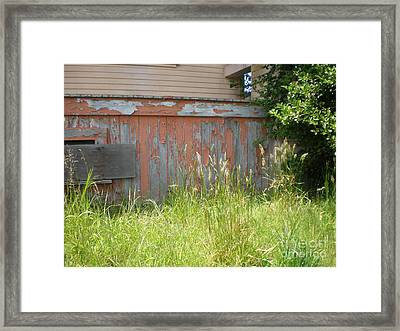 Framed Print featuring the photograph Boarded Up by Suzanne McKay