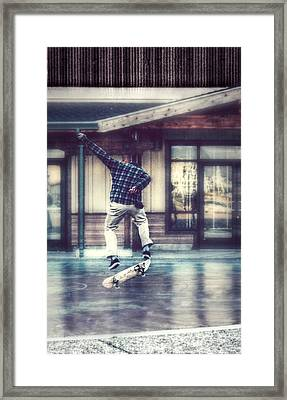 Boarder Bliss Framed Print by Melanie Lankford Photography