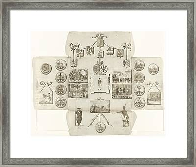 Boardgame About The Patriots, 1793 Framed Print by Litz Collection