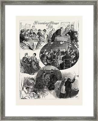 Boarding House Life 1. Sometimes There Is A Great Scarcity Framed Print