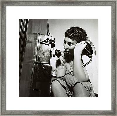Boarding House Telephone Framed Print by Library Of Congress