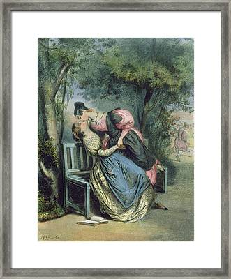 Boarding School Friends, 1837 Framed Print