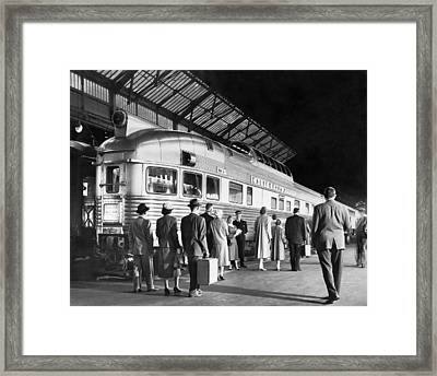 Boarding The California Zephyr Framed Print by Underwood Archives