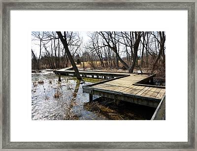 Boardwalk Afternoon Framed Print