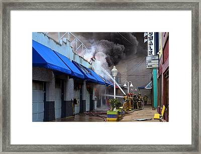 Boardwalk Arcade Fire September 2014 Framed Print