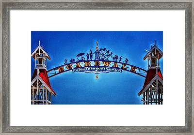 Boardwalk Arch In Ocean City Framed Print
