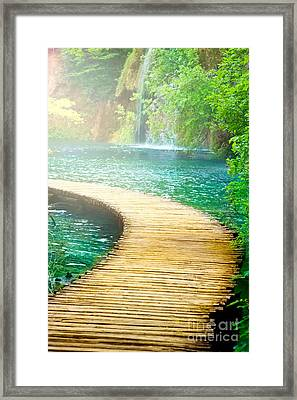 Boardwalk Art Framed Print by Boon Mee