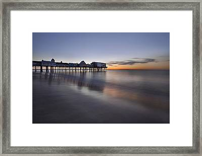 Boardwalk At Dawn Framed Print by Eric Gendron