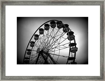 Framed Print featuring the photograph Boardwalk Beauty by Laurie Perry