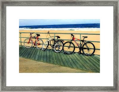 Boardwalk Bikes Framed Print