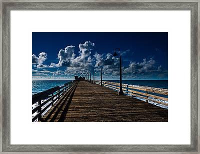 Boardwalk Blues  Framed Print by Cecil K Brissette