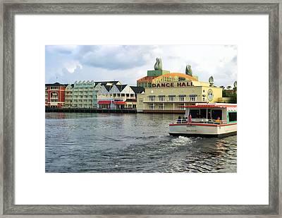 Boardwalk Boat Ride Walt Disney World Framed Print